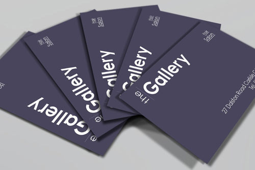 The Gallery business card design